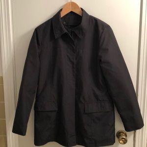 Express Black Zip Front Coat